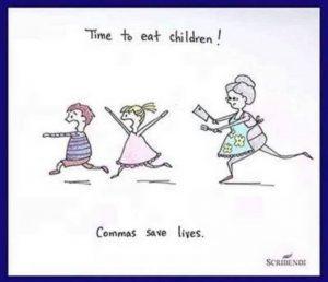 Een komma op de juiste plaats redt levens
